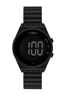 Relógio Euro Fashion Fit Slim Feminino Preto Eubjt016Ad/4P Eubjt016Ad/4P