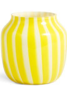 Hay Vaso Com Listras - Amarelo