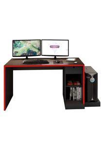 Mesa Gamer Drx-3000 Preto E Vermelho - D'Rossi