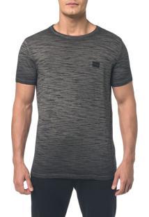 Camiseta Ckj Flamê Tinto Sujo Logo Peito - Preto - Ggg
