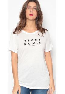 Camiseta Escrita- Branca- Colccicolcci