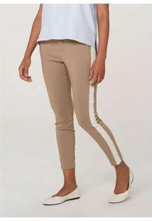 Calça Feminina Skinny Com Faixa Lateral Azul-Royal