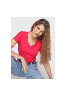 Blusa Malwee Canelada Rosa