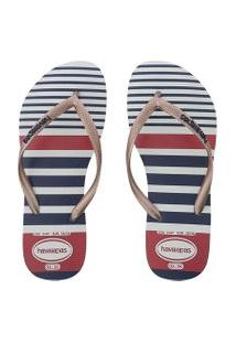 Chinelo Havaianas Slim Nautical Branco