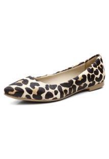 Sapatilha Casual Feminina Confortável - Leopardo
