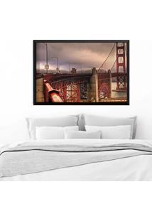 Quadro Love Decor Com Moldura Golden Gate Preto Grande
