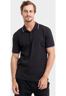 Camisa Polo Redley Malha - Masculino-Preto
