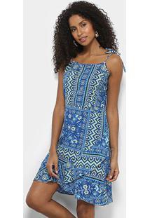 c8823c541 ... Vestido Acrobat Curto Evasê Estampado - Feminino-Azul