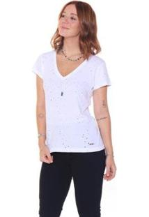 Camiseta Studio 21 Fashion Destroyed - Feminino-Off White