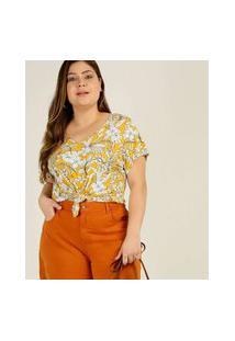 Blusa Plus Size Feminina Estampa Floral Marisa