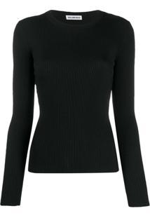 Balenciaga Suéter De Tricô Canelado - Preto