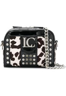 La Carrie Cow Print Crossbody Bag - Preto