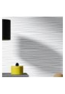 Papel De Parede Adesivo Autocolante Efeito 3D Ondas Horizontais Cinza E Branco