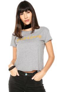 Camiseta Dzarm Self-Love Cinza