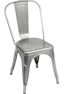 Cadeira Retro- Prateada- 86X36X35,5Cm- Or Designor Design