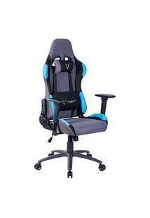 Cadeira Gamer Husky Gaming Racing, Azul - Com Almofadas, Reclinável, Descanso De Braço 3D - Hrc-Blu