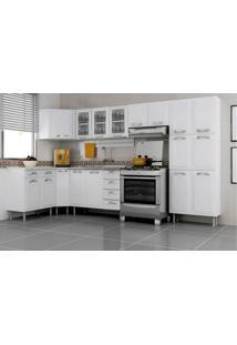 Cozinha Completa Itatiaia Premium Aço C/ 7 Peças (Paneleiro+3 Armários+3 Gabinetes) Kit Cz23- Branco