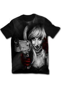 Camiseta Manga Curta Stompy Tattoo 04 Preto