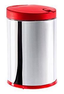 Lixeira Com Tampa Press 4 Litros Vermelha Brinox
