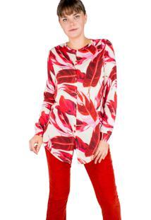 Camisa Manga Longa Modisch Pink&Red