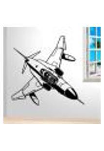 Adesivo De Parede Avião Caça Militar - Gi 100X100Cm