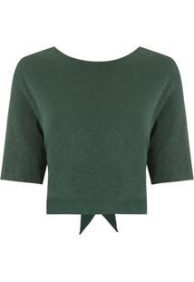 Osklen Blusa Rusty Com Amarração - Verde