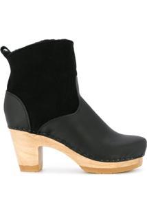 No.6 Ankle Boot Com Salto Médio - Preto