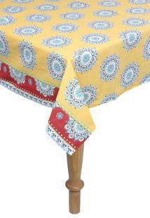 Toalha De Mesa Retangular Santista Royal Mystic 1,40M X 2,10M Amarelo