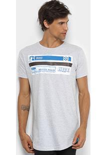 Camiseta Fatal Rappin Hood Alongada Masculina - Masculino-Gelo