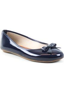 Sapatilha Tag Shoes Verniz Laço Feminino - Feminino-Marinho