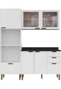 Cozinha Modulada 4 Peças Com Tampo E Nevada 5908Vdtp-Multimóveis - Branco Premium