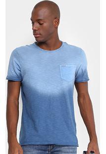 Camiseta Opera Rock Estonada Bolso Masculina - Masculino-Azul