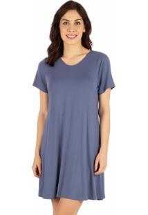 Camisola Curta Homewear Denin - 589.073 Marcyn Lingerie Camisolas Azul Marinho