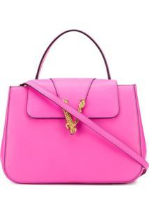 Versace Bolsa Com Alça De Mão Virtus - Rosa