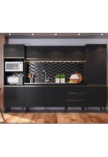 Cozinha Compacta Chloe 9 Pt 3 Gv Preta
