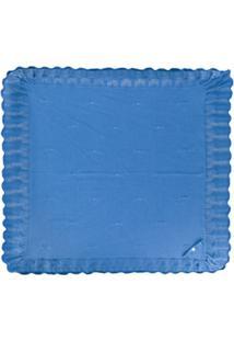Pili Carrera Cobertor De Tricô Padronado - Azul