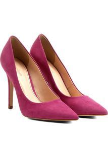 Scarpin Couro Shoestock Salto Alto Nobuck - Feminino-Pink