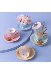 Conjunto De Xícaras De Porcelana Mayfair Cor: Colorido - Tamanho: Único