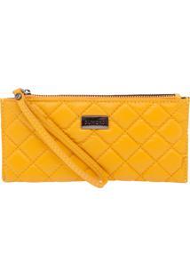 Carteira Dumond Pequena Alça Mão Matelasse Premium Amarelo