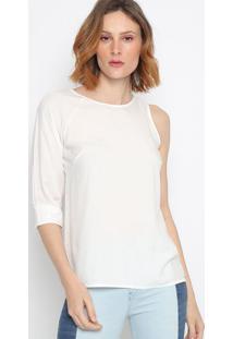 Blusa Lisa Assimã©Trica- Off White- Colccicolcci