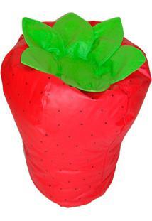Puff Frutinha Morango Vermelho E Verde