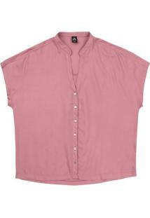 Camisa Feminina Básica Manga Curta Gola Padre