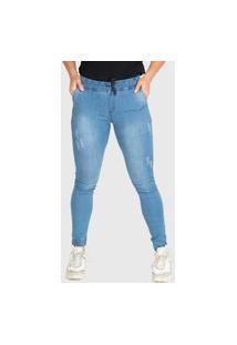 Calça Jeans Presence Jogger Azul