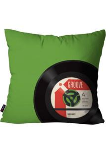 Capa De Almofada Pump Up Avulsa Mãºsica Verde Vinil 45X45Cm - Verde - Dafiti