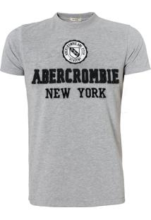 Camiseta Abercrombie Masculina Academy Cinza