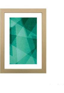 Quadro Decorativo Green Forms Ii 23X33Cm Zebrano Infinity