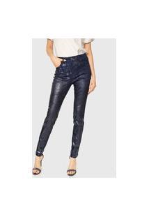 Calça Jeans Forum Skinny Resinada Azul