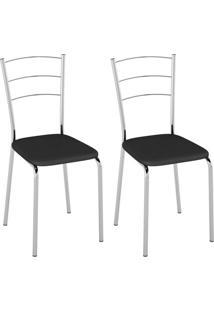 Conjunto Com 2 Cadeiras Olvera Preto