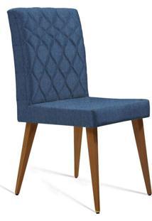 Cadeira De Jantar Edon Linho Marinho