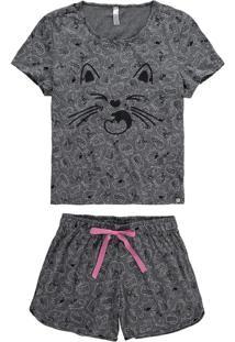 Pijama Mescla Gatinhos